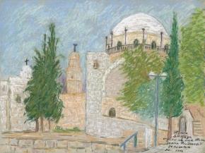 J60.-Sinagoga-Hurva,-pogled-sa-trga-Hurva—Hurva-Synagogue,-view-from-Hurva-Square