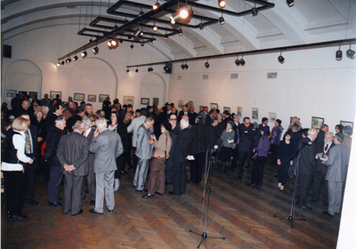 At the exhibition opening in Ruski dom
