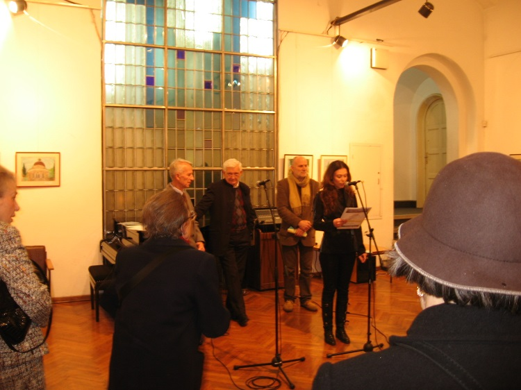From the exhibition opening in the Russian Cultural Centre