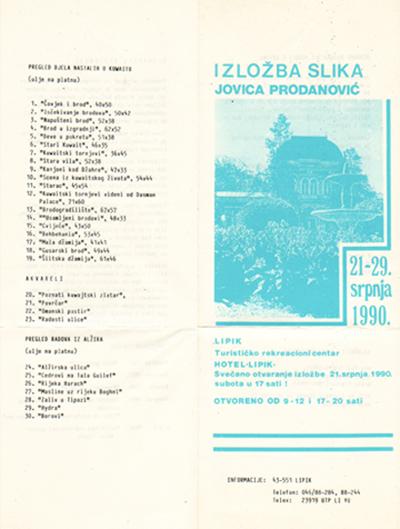 Brošura sa izložbe